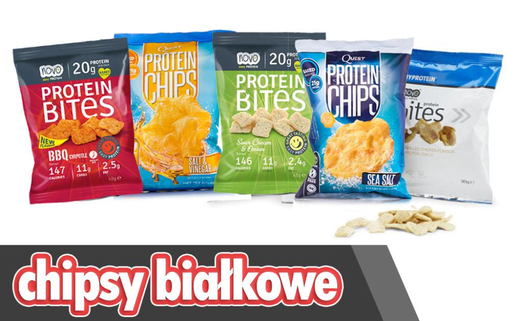 chipsy białkowe