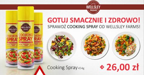 wellsley olej w spray zero kalorii