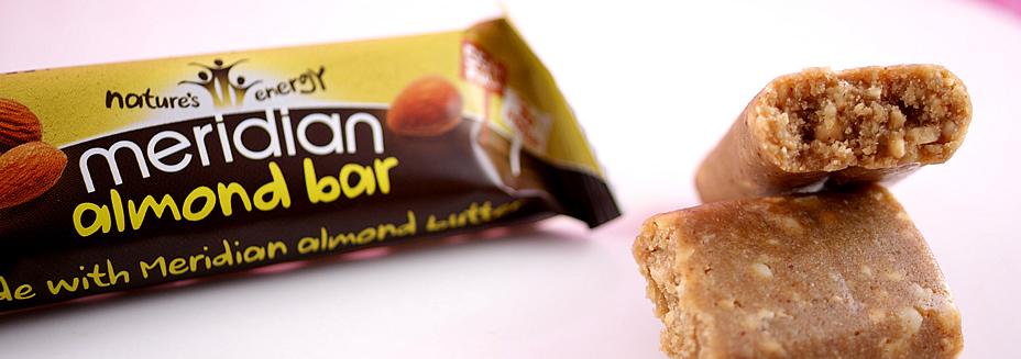 almond bar batonik z migdałami meridian