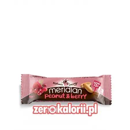 Orzeszki + Malina Meridian Peanut & Berry Bar 40g
