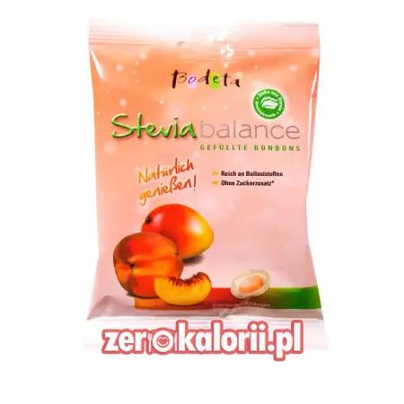 Cukierki ze Stewią Brzoskwinia-Mango Bodeta 75g BEZ CUKRU, Sugar Free