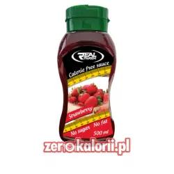 Syrop Truskawkowy 500 ml Zero Kalorii Real Pharm