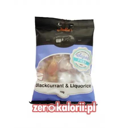 Cukierki o smaku czarnej porzeczki i lukrecji BEZ CUKRU Stockleys 70g Sugar Free
