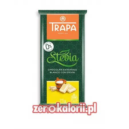 Biała Czekolada BEZ CUKRU ze stewią Trapa 75g
