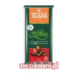 Gorzka Czekolada 80% KakaoBEZ CUKRU ze stewią Trapa 75g