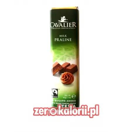 Baton z czekolady o smaku Pralinek BEZ CUKRU, 40g Cavalier