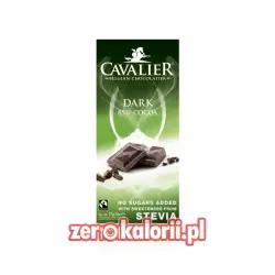 Czekolada ciemna 85% słodzona stewią, BEZ CUKRU 85g Cavalier