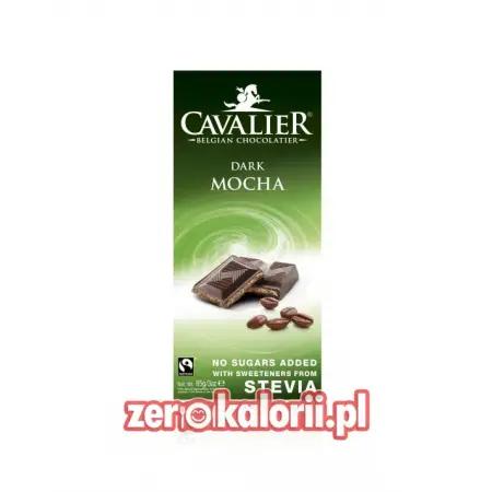 Czekolada mleczna Kawa-Mocha słodzona stewią, BEZ CUKRU 85g Cavalier