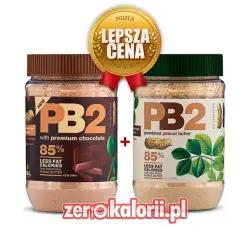 Dwu Pak PB2 Original + PB2 Czekoladowe, Odtłuszczone Masło Orzechowe w proszku