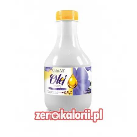 Olej Lniany extra virgin 500ml Ostrovit EKO BIO