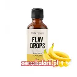 Aromat Flav Drops Banan 50ml, Body Attack Bez Cukru i Tłuszczu