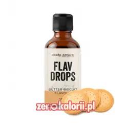 Aromat Flav Drops Herbatniki 50ml, Body Attack Bez Cukru i Tłuszczu