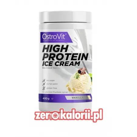 High Protein Ice Cream WANILIA 400g Ostrovit, Lody Białkowe