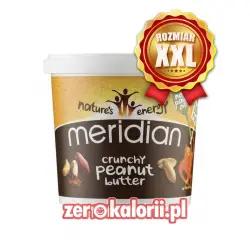 Masło Orzechowe Crunchy Meridian 1000g XXL 100 % Orzechów