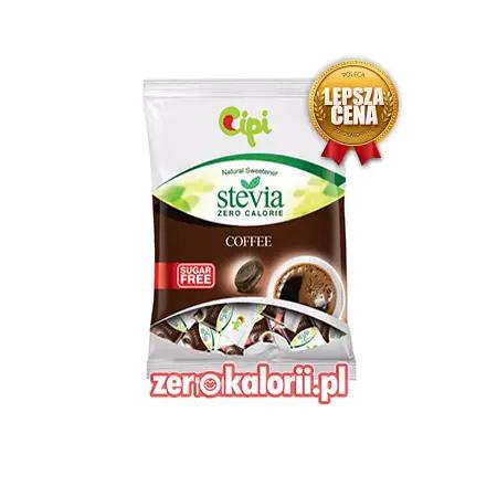 Cukierki twarde Coffee KAWA, BEZ CUKRU 1kg Cipi ze stewią
