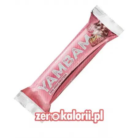 YamBam Strawberry Vanilla Peanut Baton Białkowy 80g, BodyAttack
