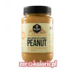 Dr. Zack's Proteinowe Masło Orzechowe Biała Czekolada i Kokos 450g