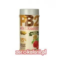 Masło Orzechowe PB2 z TRUSKAWKAMI 184g w proszku