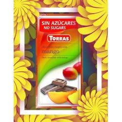 Czekolada gorzka z mango BEZ CUKRU ze stewią Torras 75g