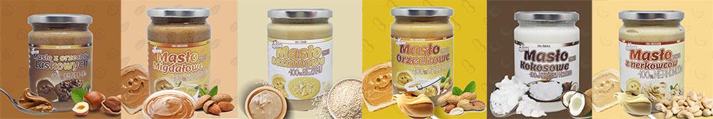 mocne masło orzechowe 100% bez soli, bez cukru, bez oleju palmowego