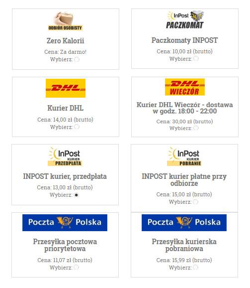wysyłka zerokalorii.pl