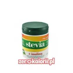 Słodzik Stevia z Inuliną w proszku 140g ZIELONY LISTEK