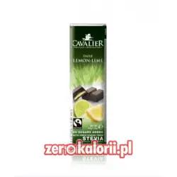 Baton z czekolady z nadzieniem cytrynowym i z limonką BEZ CUKRU, 40g Cavalier