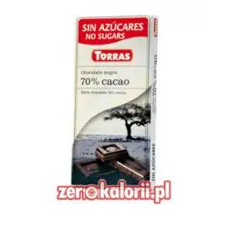 Czekolada gorzka 70% caco ze stewią Torras 100g