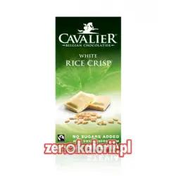 Biała Czekolada z chrupkami ryżowymi BEZ CUKRU, 85g Cavalier