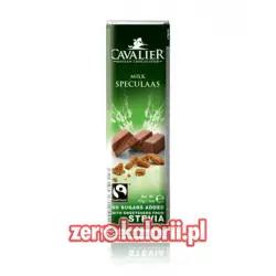 Baton z mlecznej czekolady z ciasteczkamii BEZ CUKRU, 40g Cavalier