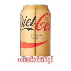 Diet Coke Bez Kofeiny ZERO - 330ml puszka