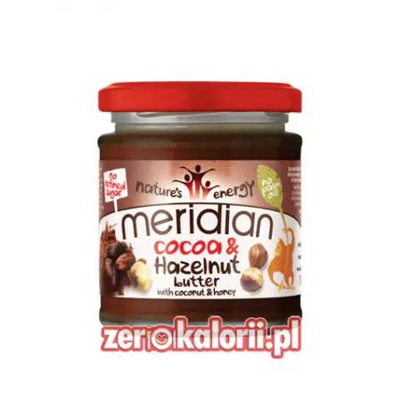 Cocoa & haleznut Meridian 170g, Masło z orzechów laskowych z miodem i kokosem
