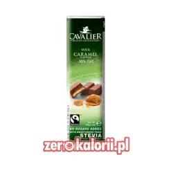 Baton z czekolady belgijskiej z Karmelem 40g, Bez Cukru