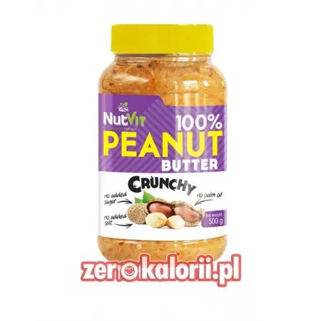 Masło Orzechowe Crunchy 500g NutVit 100 % Orzechów