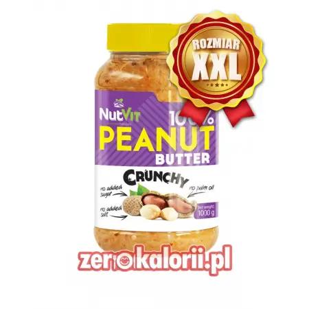 Masło Orzechowe Crunchy 1000g NutVit 100 % Orzechów