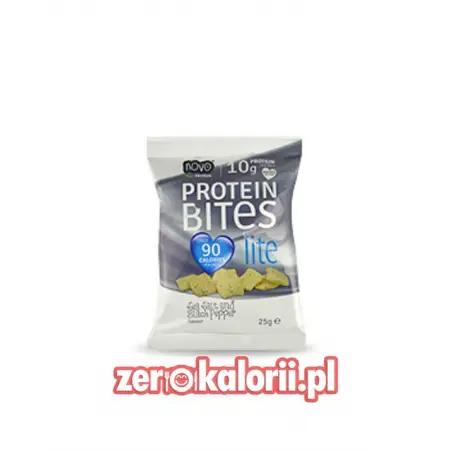 Protein Bites Lite, Chipsy Białkowe 25g Sól Morska&Czarny Pieprz
