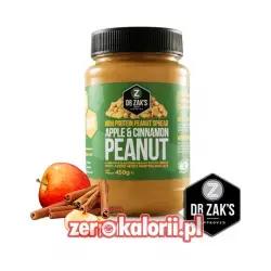 Dr. Zack's Proteinowe Masło Orzechowe o smaku Cynamonu i Szarlotki 450g